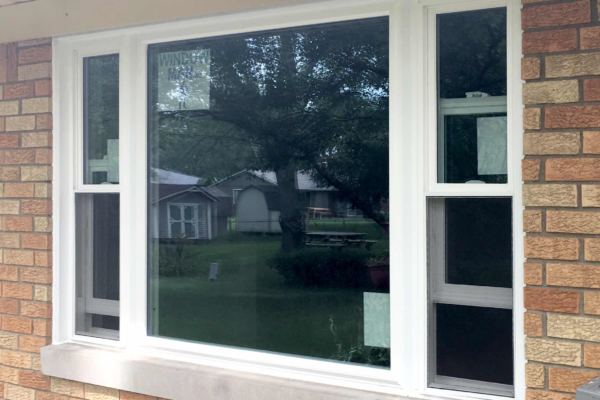 Picture Window with Double Hung Windows on Each Side