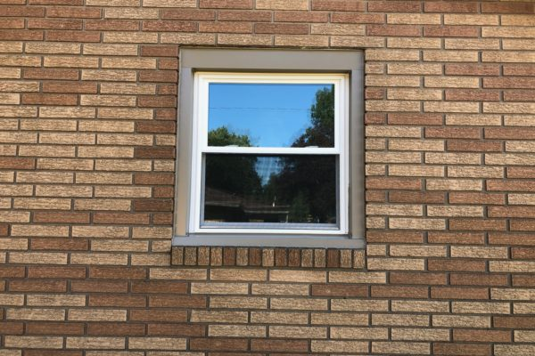 Double Hung Window With Color Exterior Wrapping