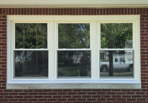 Triple Set of Energy Efficient, Double Paned Windows