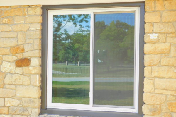 Double Sliding Window with Black Exterior Wrapping
