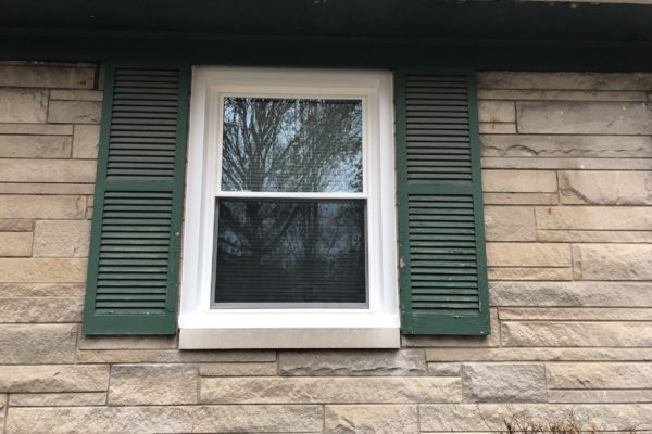 White, Double Hung Window
